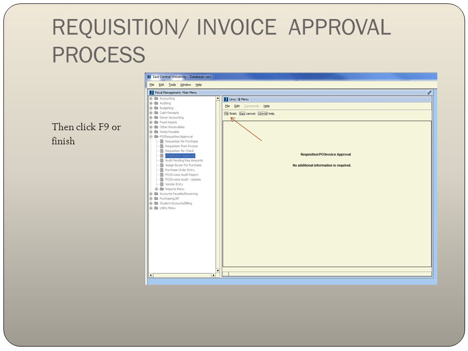 REQUISITION/ INVOICE APPROVAL PROCESS