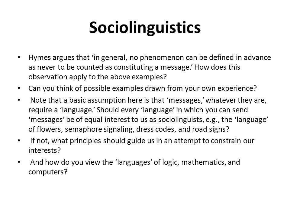 How to Write a in Sociolinguistics