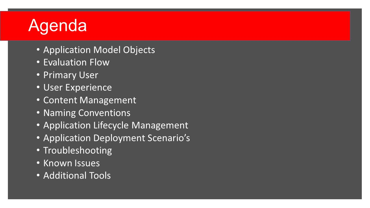 The Configuration Manager 2012 application model - ppt video