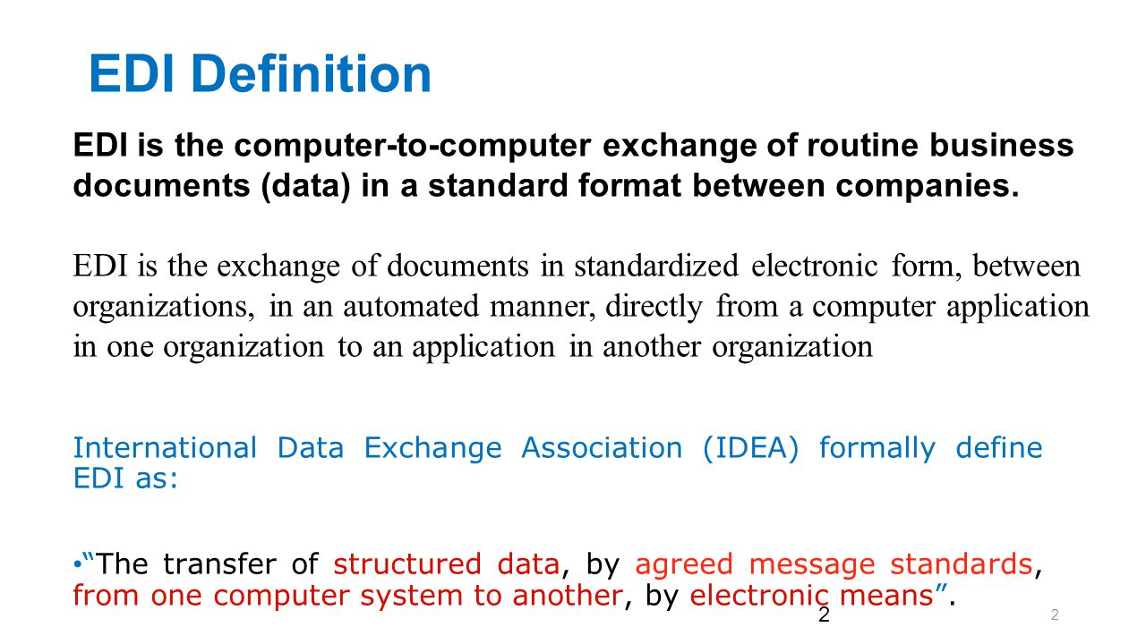 Electronic Data Interchange (EDI) - ppt download