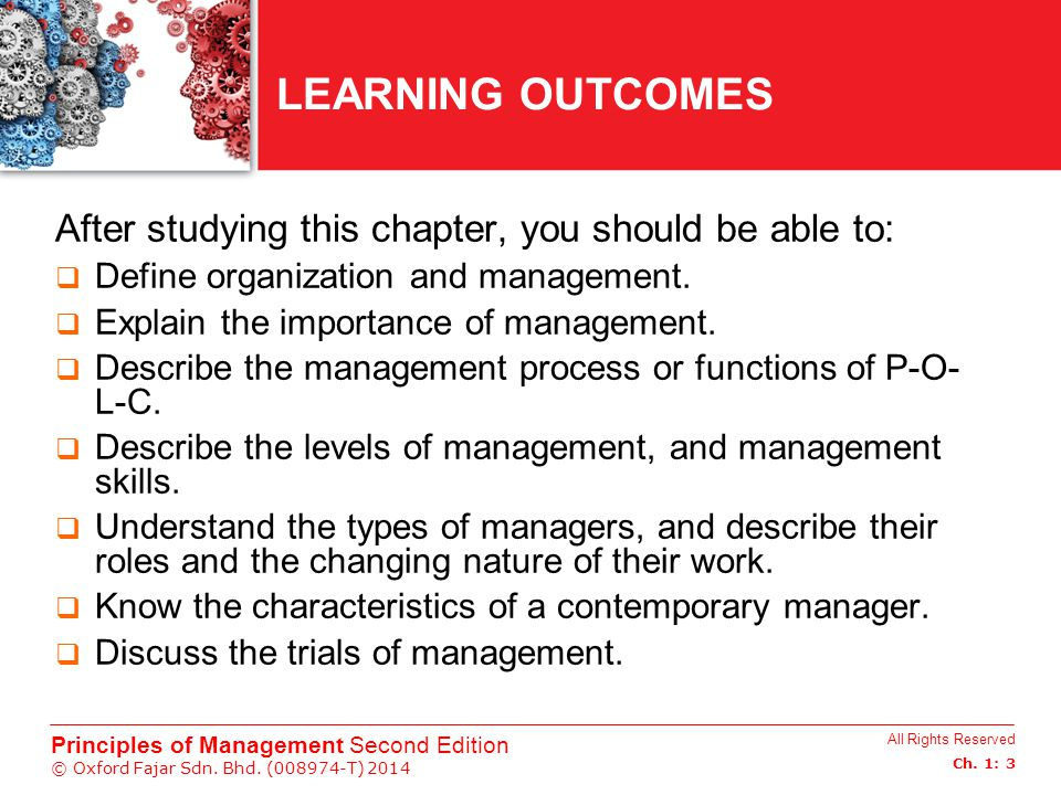 CHAPTER 1 INTRODUCTION TO MANAGEMENT  CHAPTER 1 INTRODUCTION TO