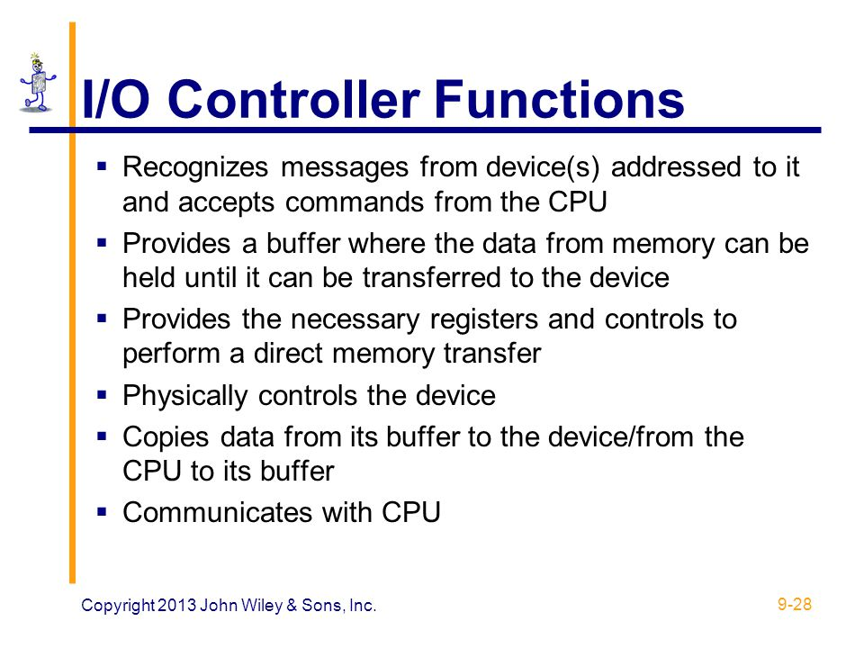 I/O Controller Functions