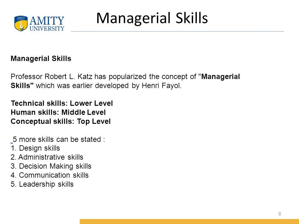 robert l katz three managerial skills