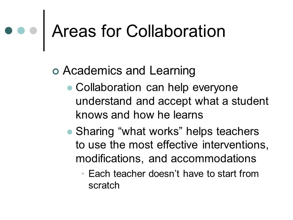 Areas for Collaboration