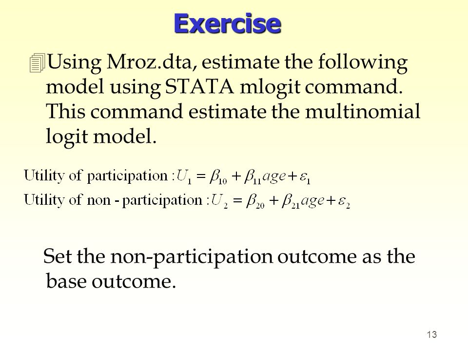 Lecture 14-2 Multinomial logit (Maddala Ch 12 2) - ppt video