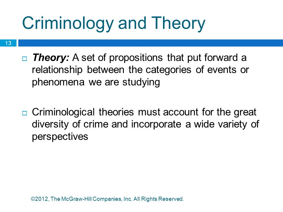 Criminology and Theory