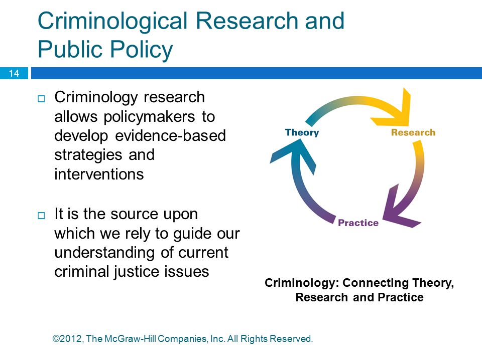 Criminological Research and Public Policy
