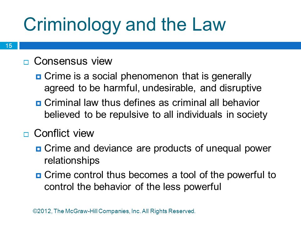 Criminology and the Law