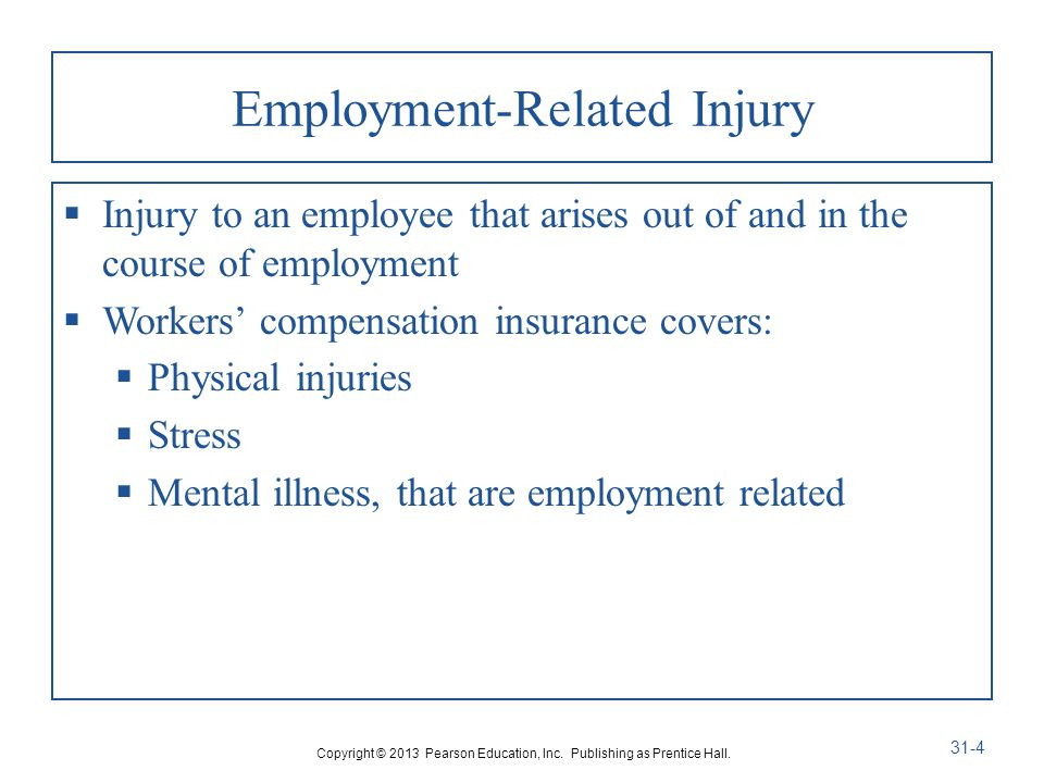 Employment-Related Injury