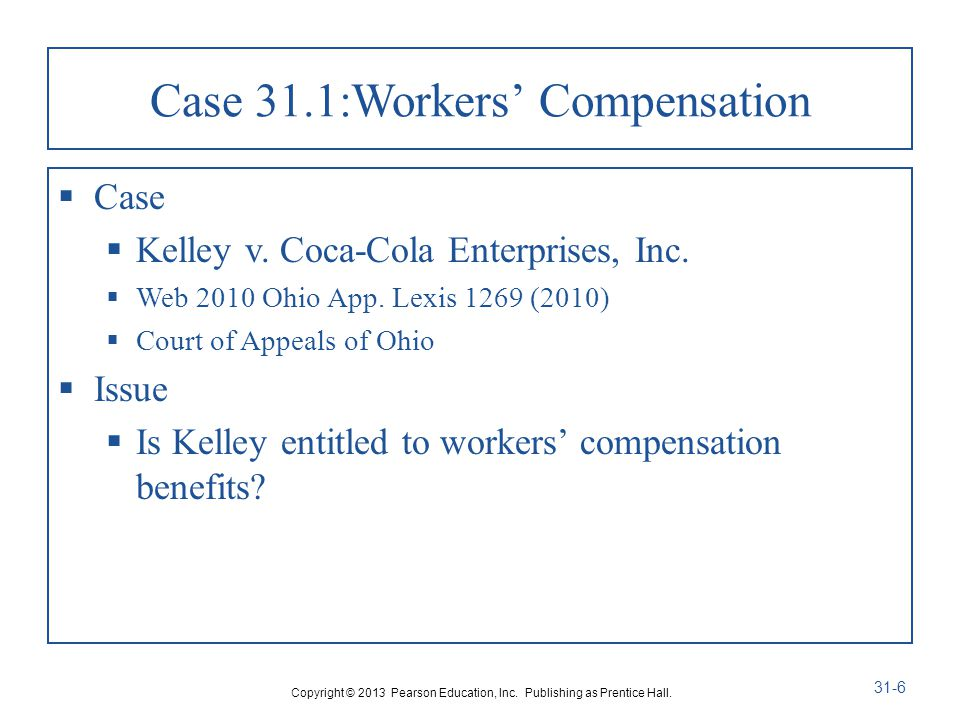 Case 31.1:Workers' Compensation