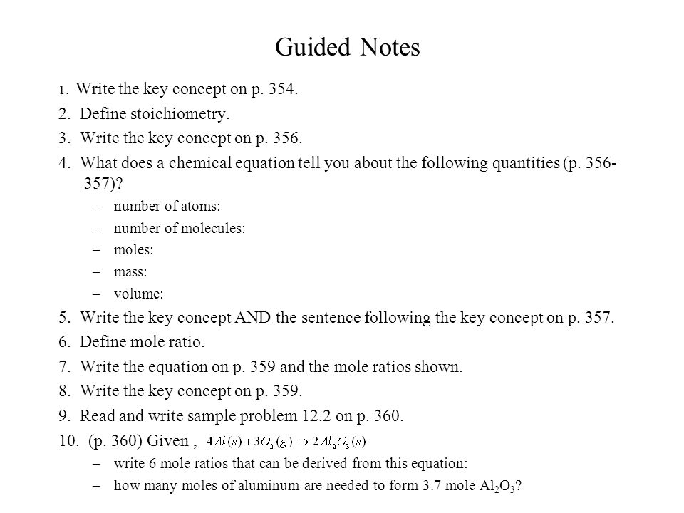 chapter 12 stoichiometry ppt video online download rh slideplayer com chemistry chapter 12 stoichiometry guided reading and study workbook answers Stoichiometry Test Answer Key
