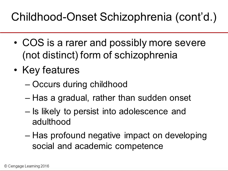 what causes a child to be psychotic?