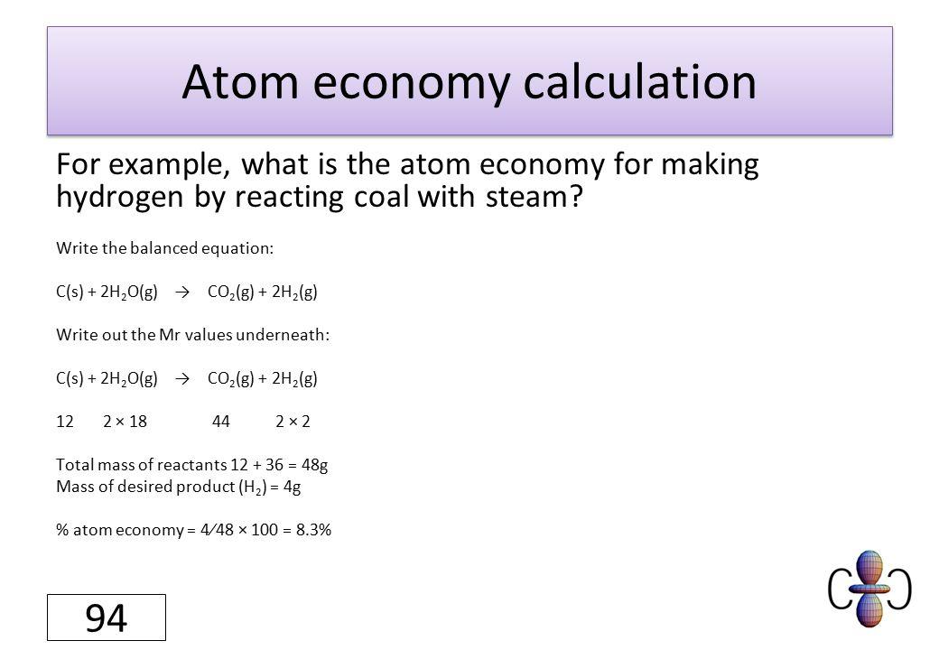 Atom economy.