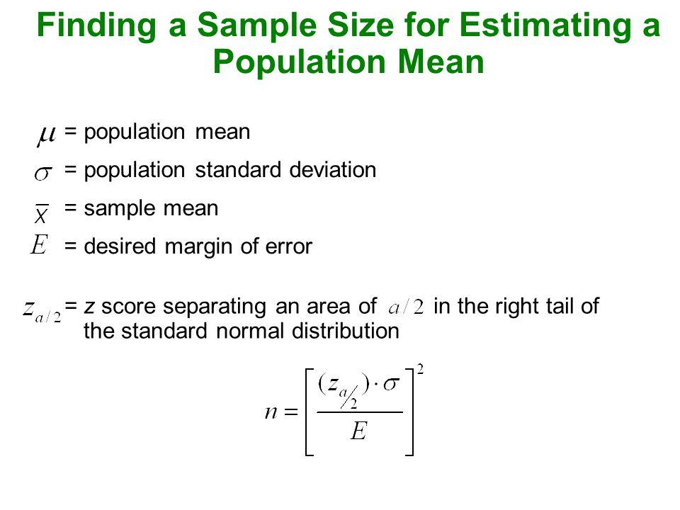 Estimation of sample size ppt download.
