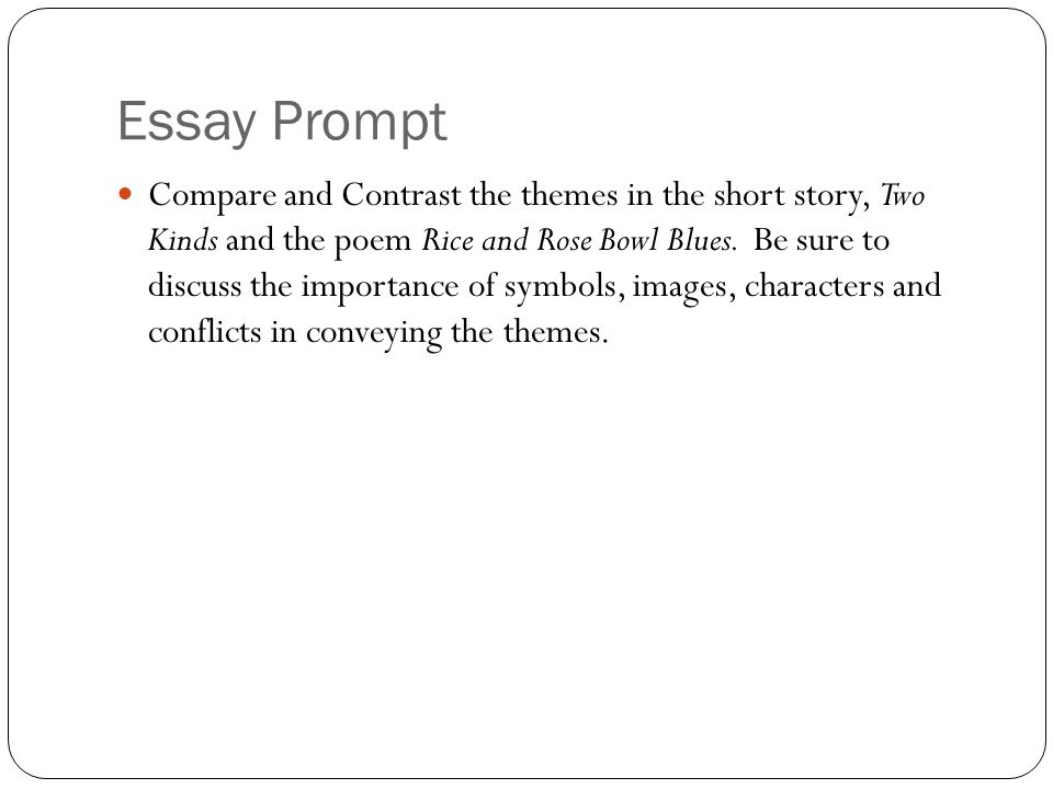 two kinds short story theme