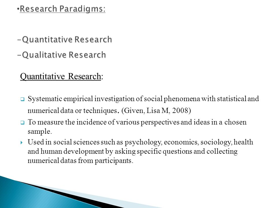social sciences search tips for quantitative studies qualitative paradigm phenomenology case studies 7581