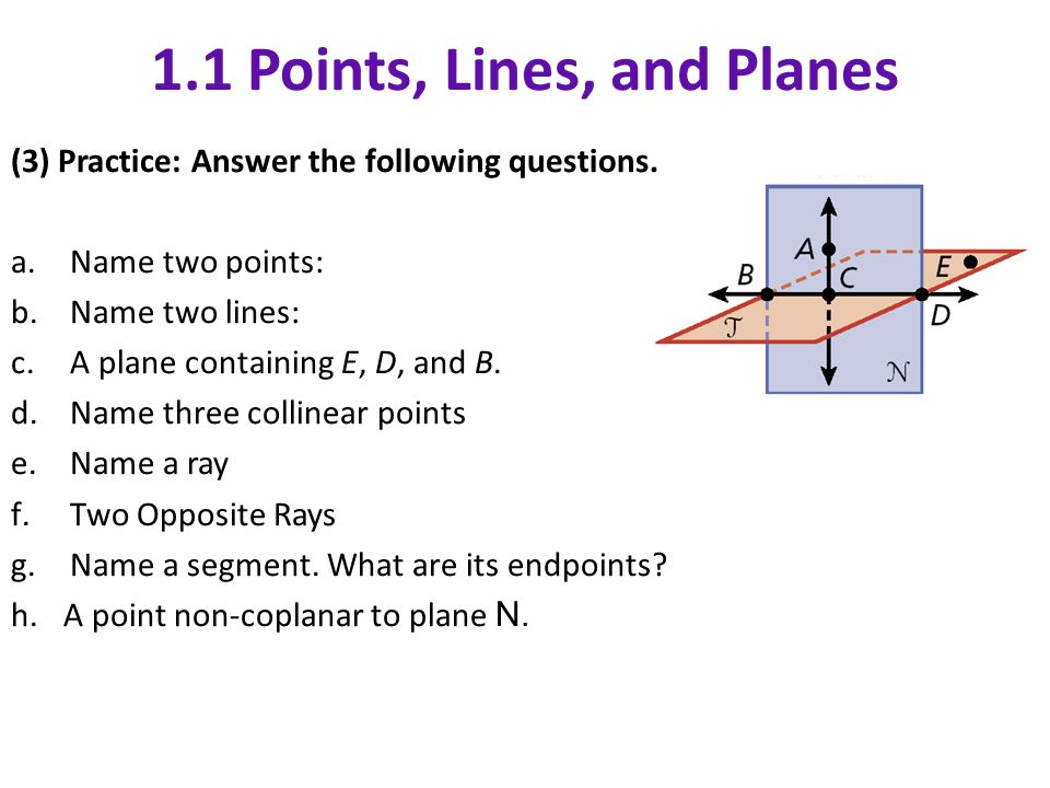 1 Points Lines And Planes