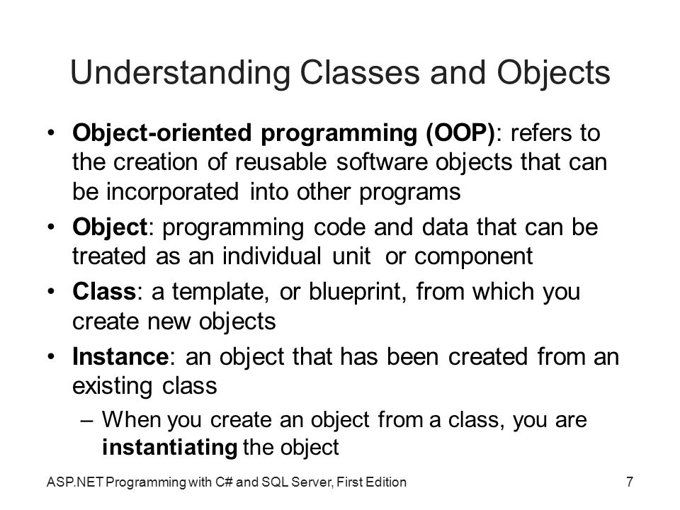 Understanding Classes and Objects