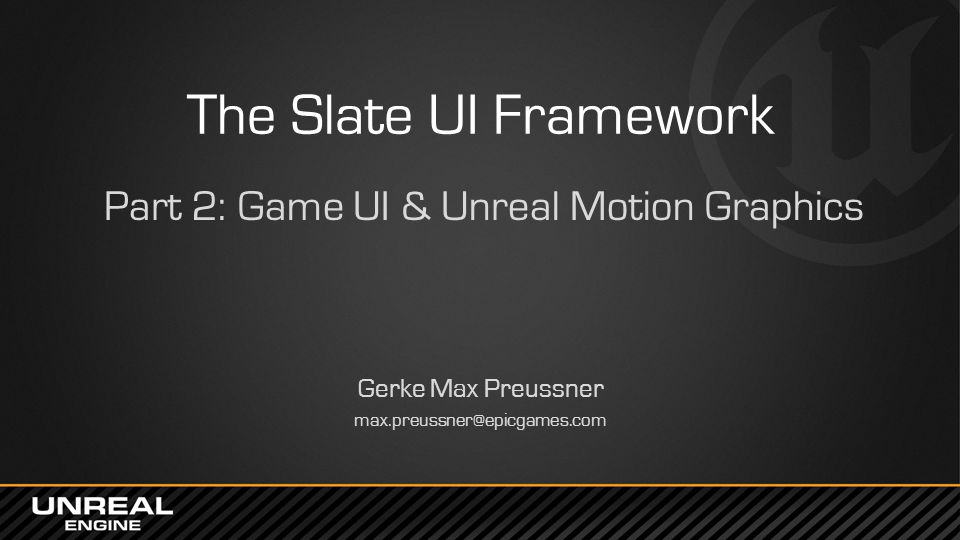 Part 2: Game UI & Unreal Motion Graphics