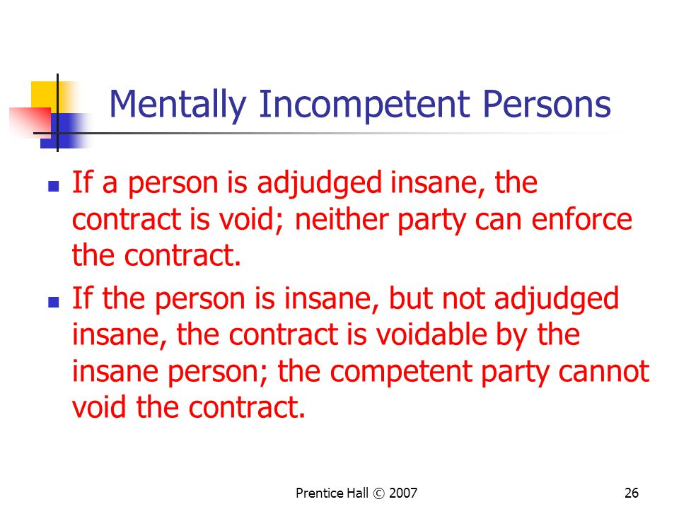 Mentally Incompetent Persons