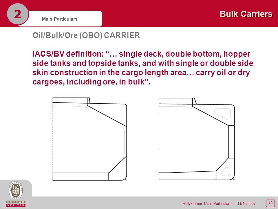 2 2 - Bulk Carrier Main Particulars  - ppt video online download