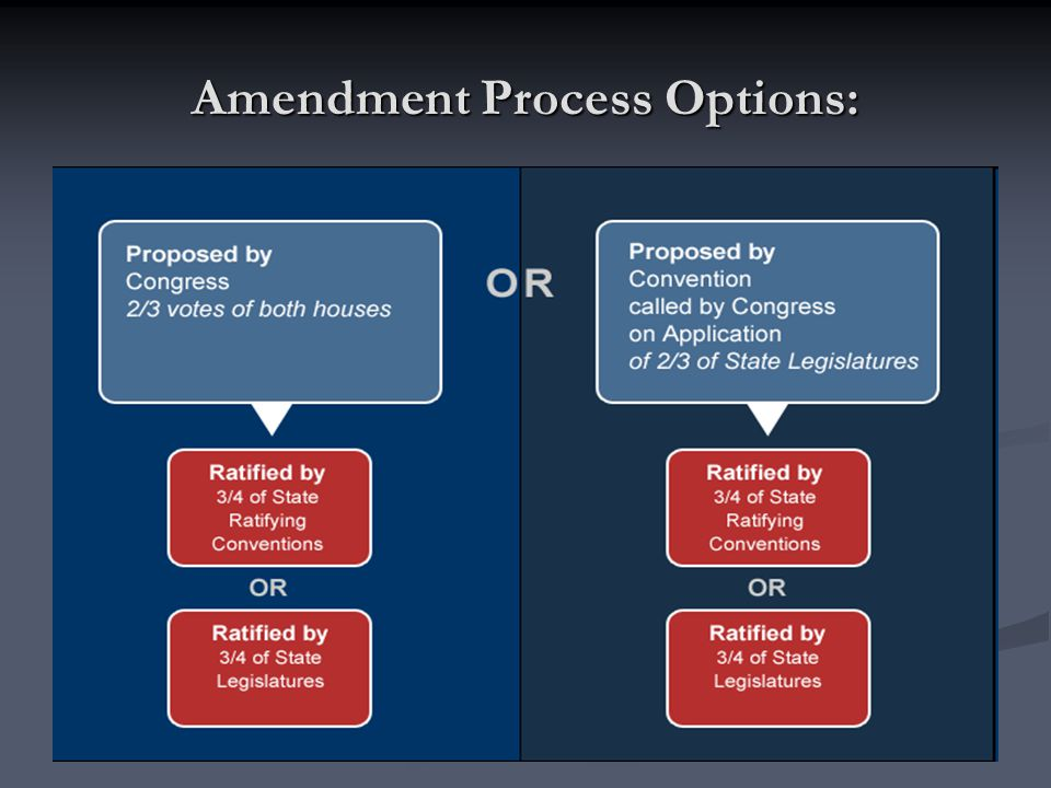 Amendment Process Options: