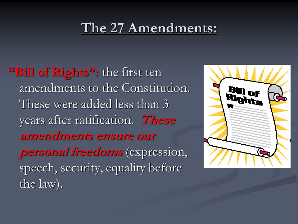 The 27 Amendments: