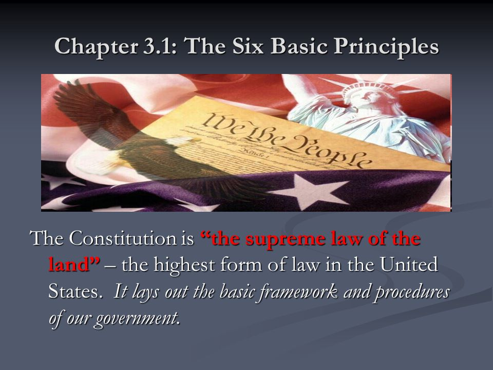 Chapter 3.1: The Six Basic Principles