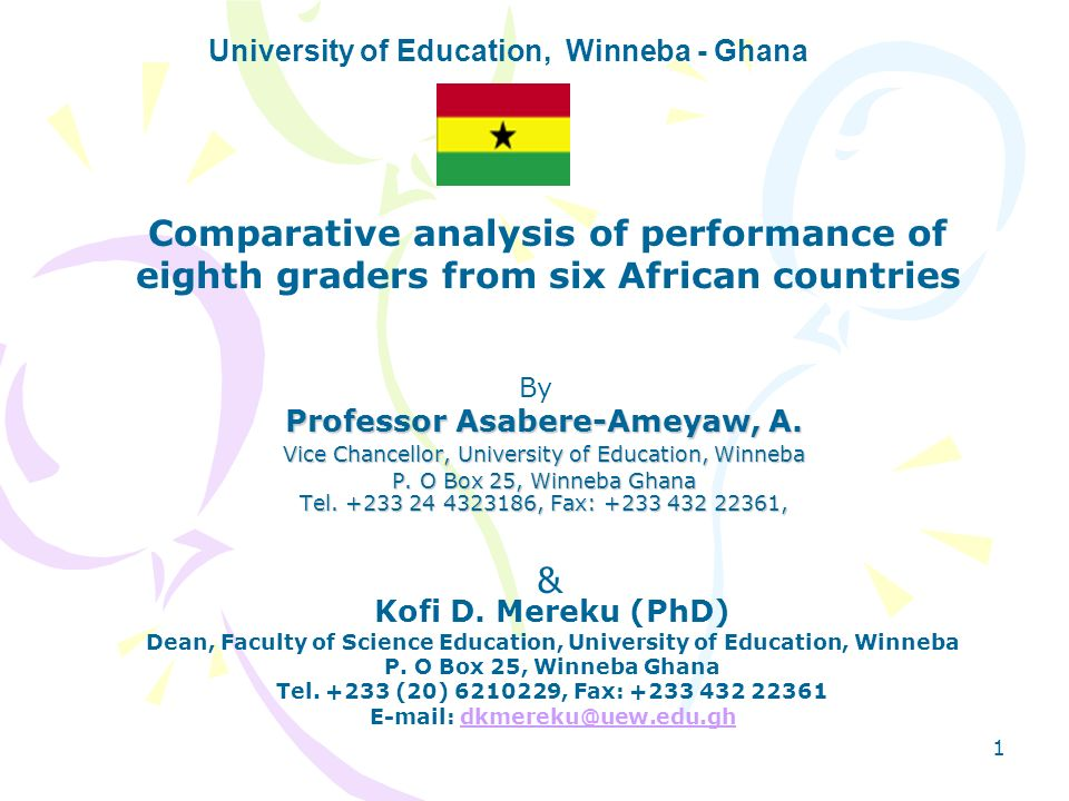 University of Education, Winneba - Ghana