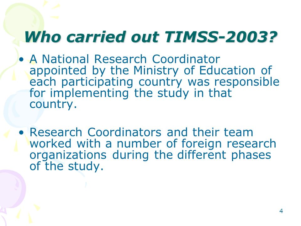 Who carried out TIMSS-2003