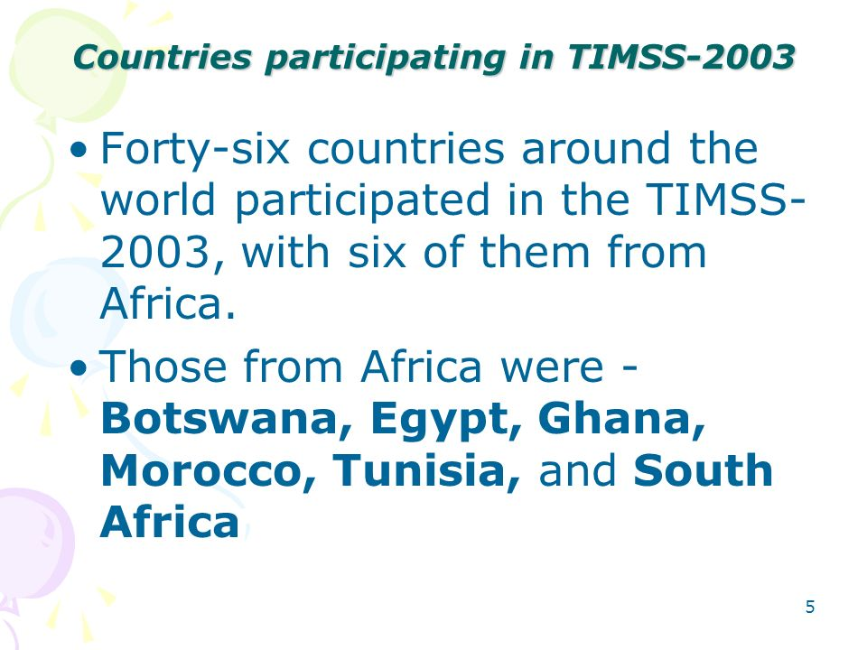 Countries participating in TIMSS-2003