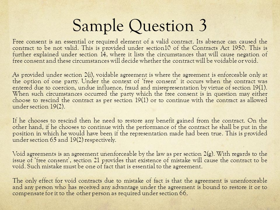 Contract Law Tutorial Answering Questions Ppt Video Online Download