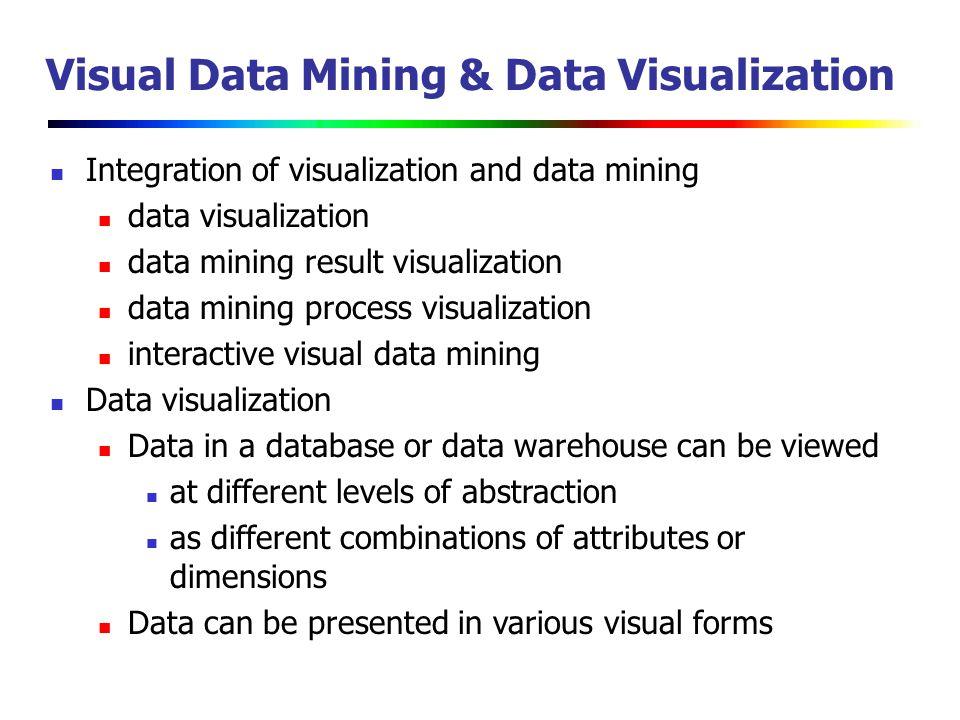 Additional theme: visual data mining.