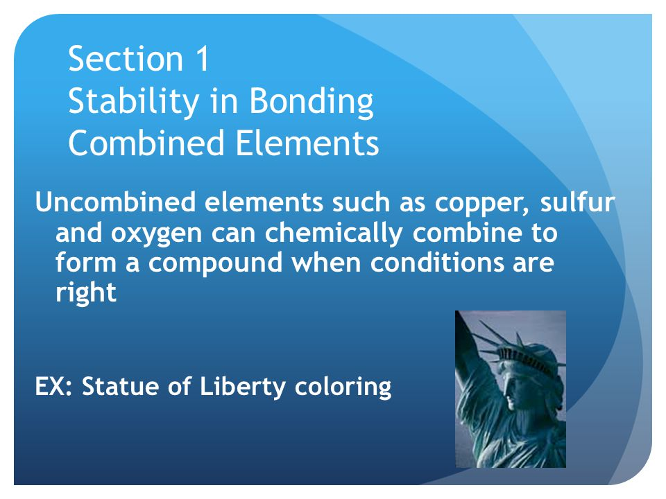 Section 1 Stability in Bonding Combined Elements