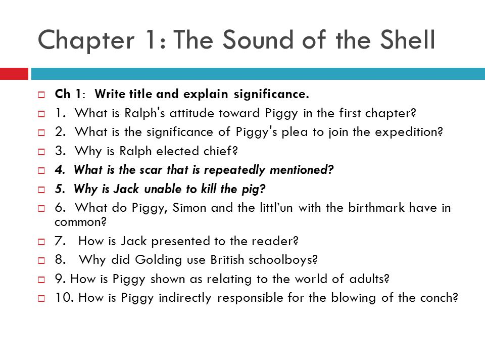 lord of the flies chapter 1 quiz