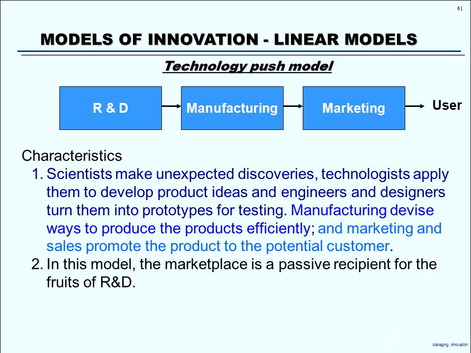 the linear model of innovation