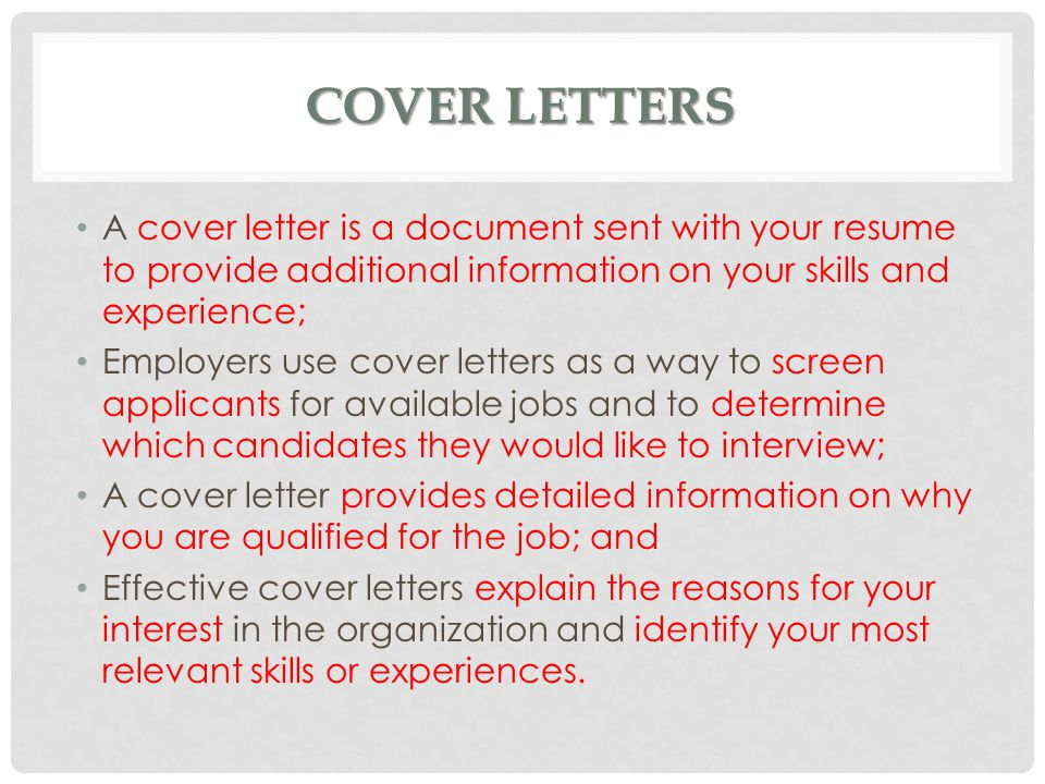 skills for cover letters