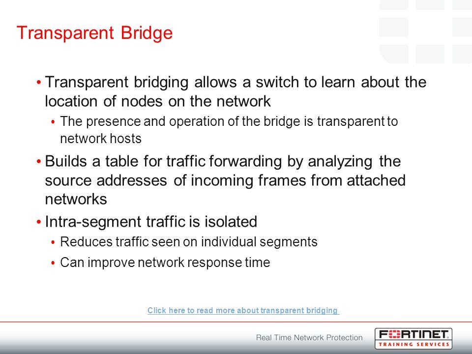 What Is Transparent Bridging