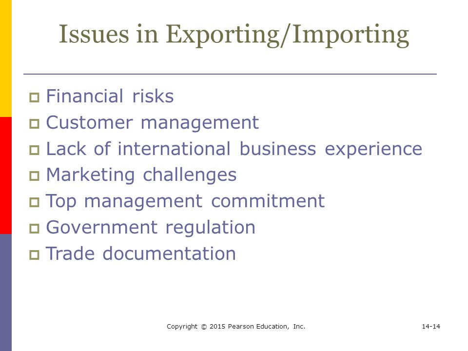 Issues in Exporting/Importing