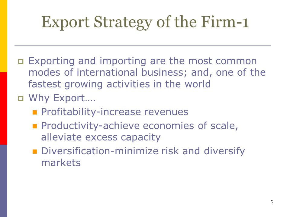 Export Strategy of the Firm-1