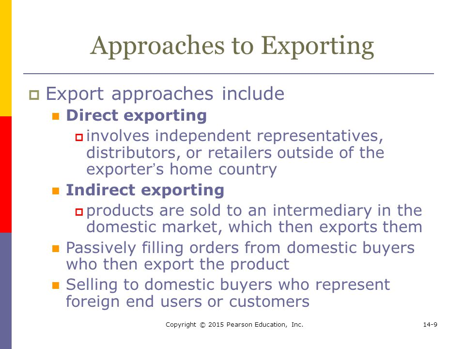 Approaches to Exporting