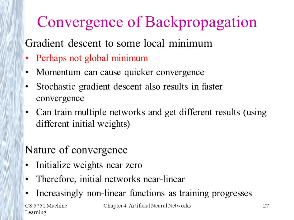 Convergence of Backpropagation