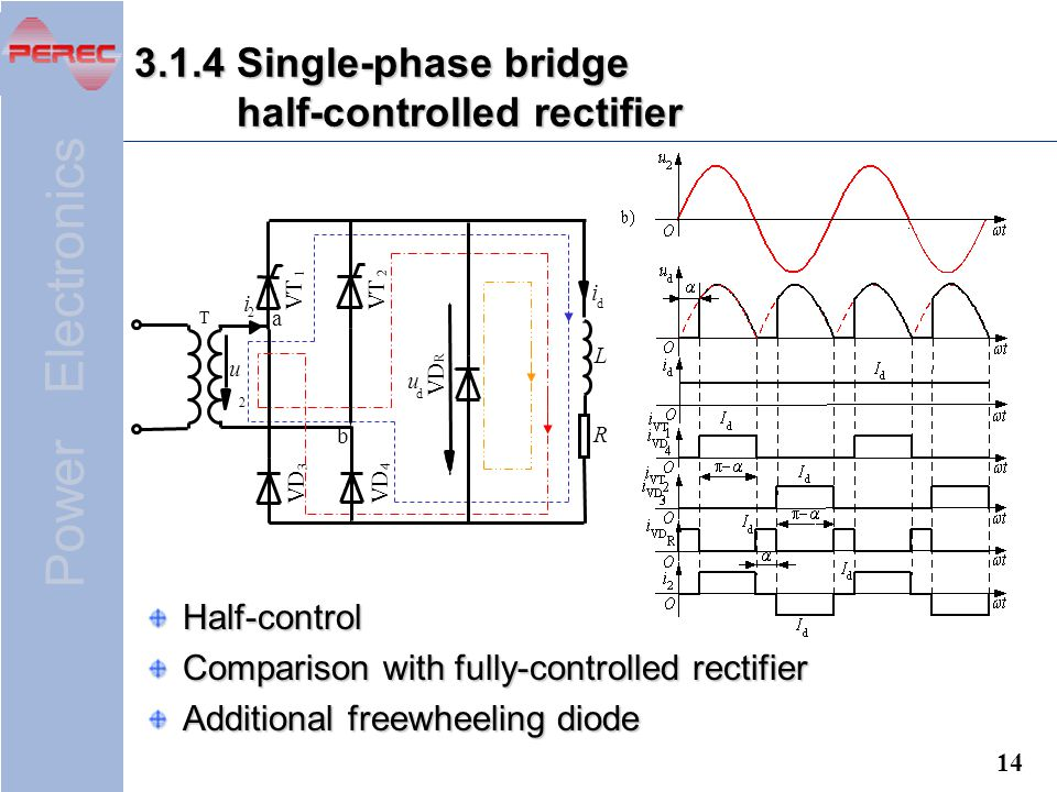 3.1.4 Single-phase bridge half-controlled rectifier