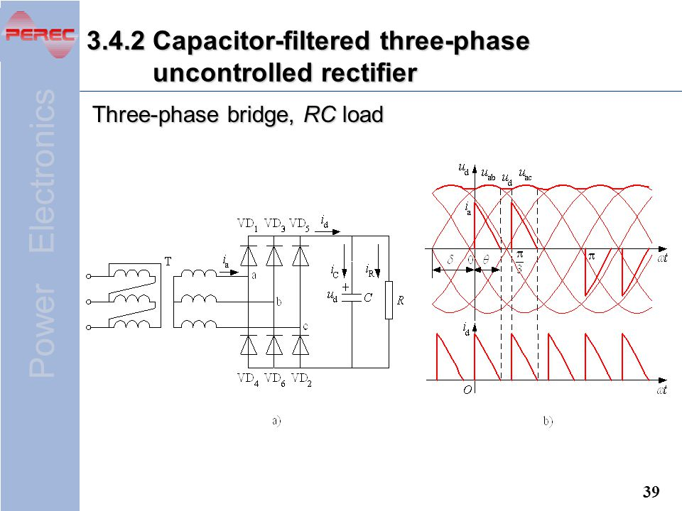3.4.2 Capacitor-filtered three-phase uncontrolled rectifier