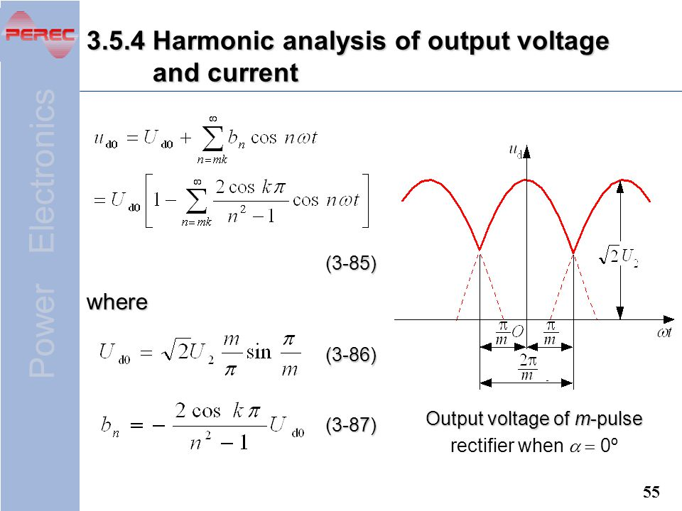 3.5.4 Harmonic analysis of output voltage and current