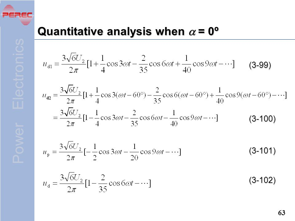 Quantitative analysis when a = 0º