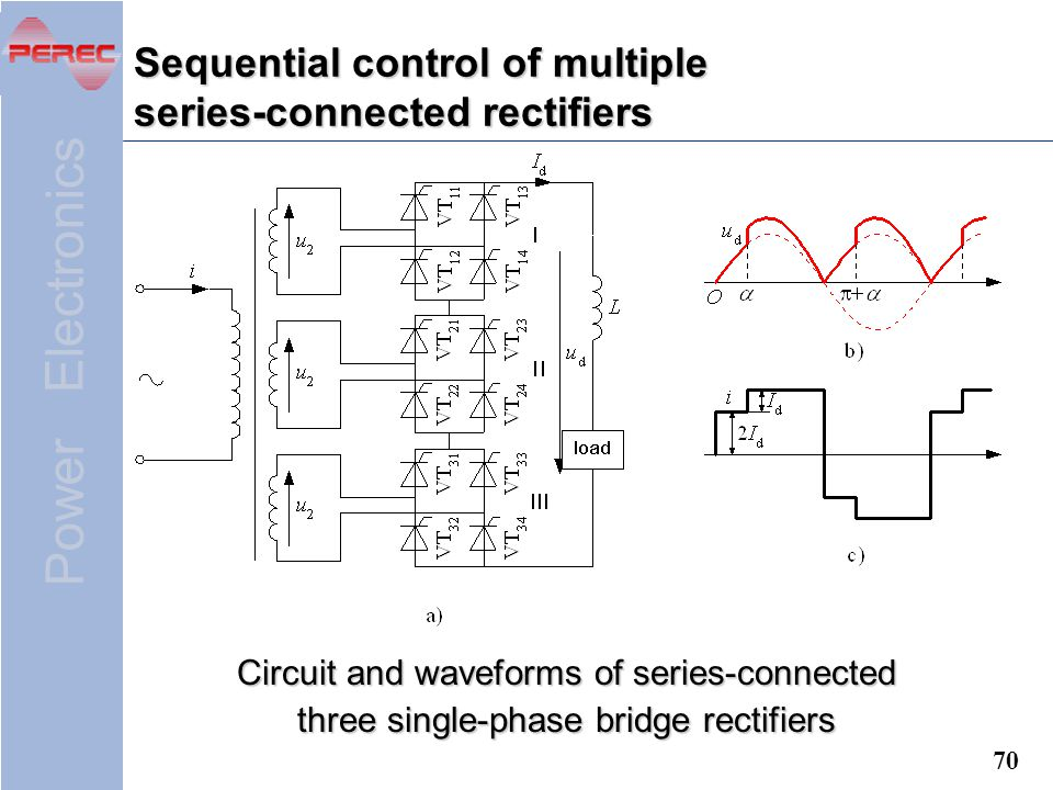 Sequential control of multiple series-connected rectifiers