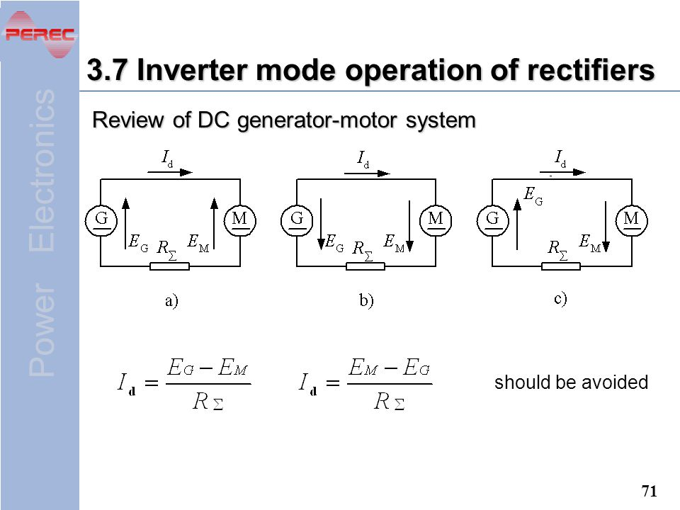 3.7 Inverter mode operation of rectifiers