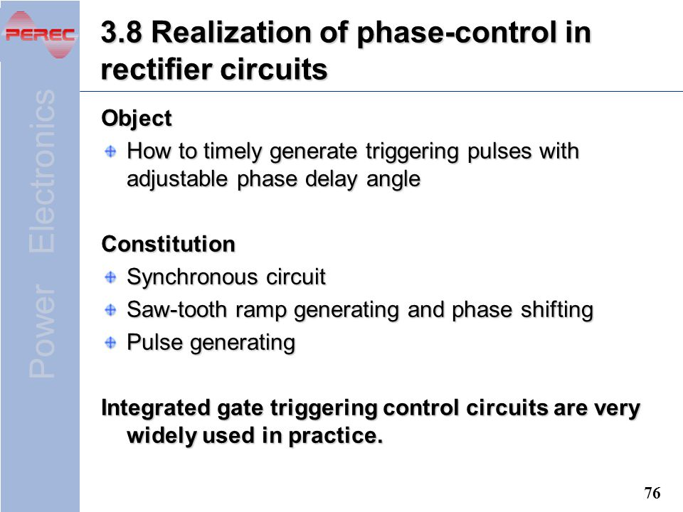 3.8 Realization of phase-control in rectifier circuits