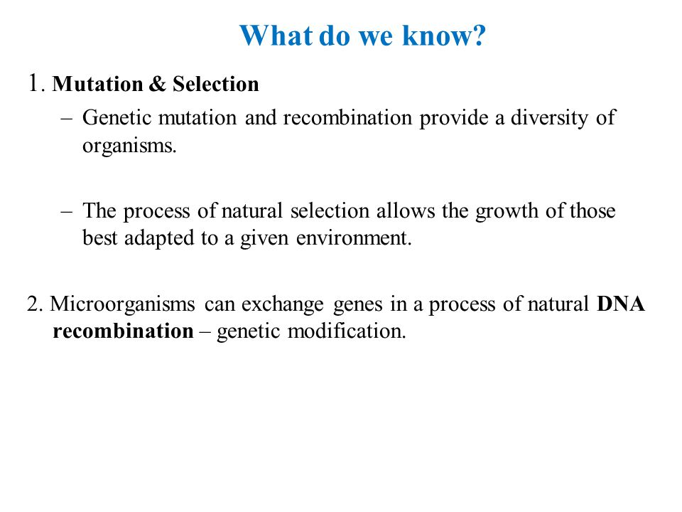 How Do We Use Naturally Occurring Genes